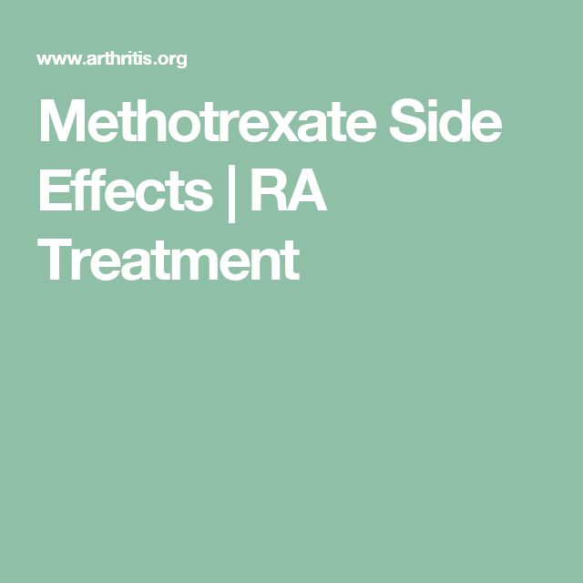 Methotrexate Side Effects | RA Treatment