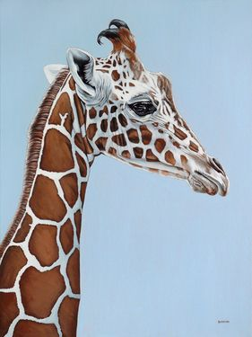 "Saatchi Online Artist Clara Bastian; Painting, ""Giraffe"" #art My baby giant Giraffe!!!  You know who you are!"