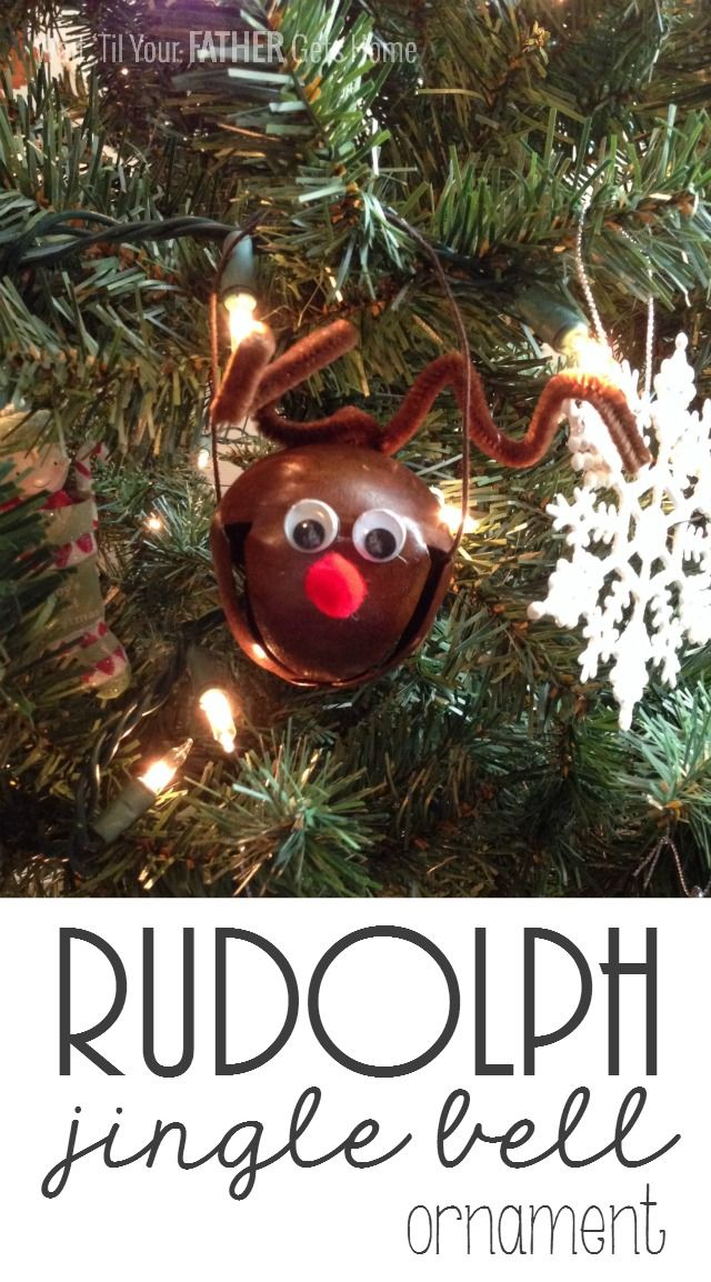 Rudolph Jingle Bell Ornaments & Neighbor Gift Blog Hop - Wait Til Your Father Gets Home
