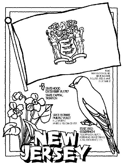 new jersey state symbol coloring page by crayola print or color online