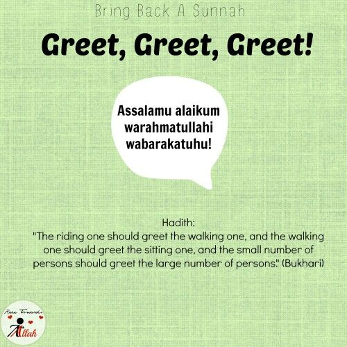87 best bring back a sunnah images on pinterest islamic quotes say the salam it is one of the rights a muslim has on another m4hsunfo