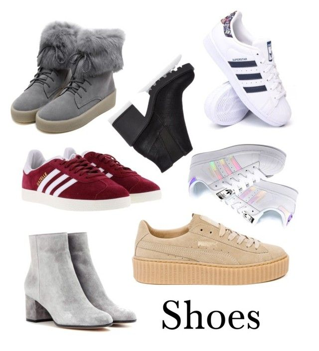 """Shoes"" by malin1234 on Polyvore featuring Gianvito Rossi, Puma, adidas Originals, adidas, WithChic and River Island"