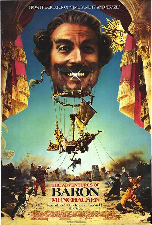 The Adventures of Baron Munchausen.  My first Terry Gilliam film, watched it 3 times.