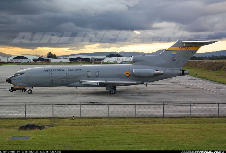 Boeing 727-151C, Colombia Air Force, FAC1203, cn 19868/529, first flight 29.1.1968 (Northwest Airlines). Foto: Bogota, Colombia, 6.9.2014.