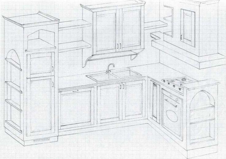 17 migliori idee su cucine in rovere su pinterest cucina for Disegni di mobili aspen