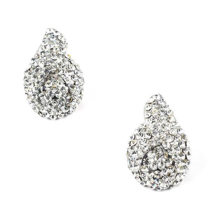 Mikey Oval Crystal Earrings  £18