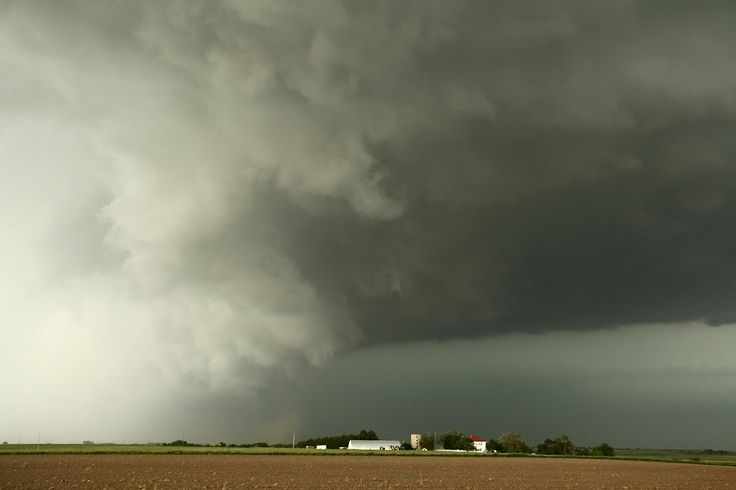 Tornadic Wall Cloud | ... vehicle shows a wall cloud next to the rear flank downdraft a dust