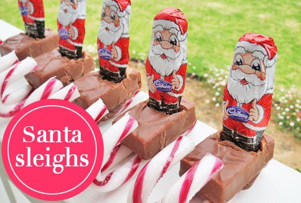 Too cute! And a perfect treat for the little ones: Santa Sleighs.
