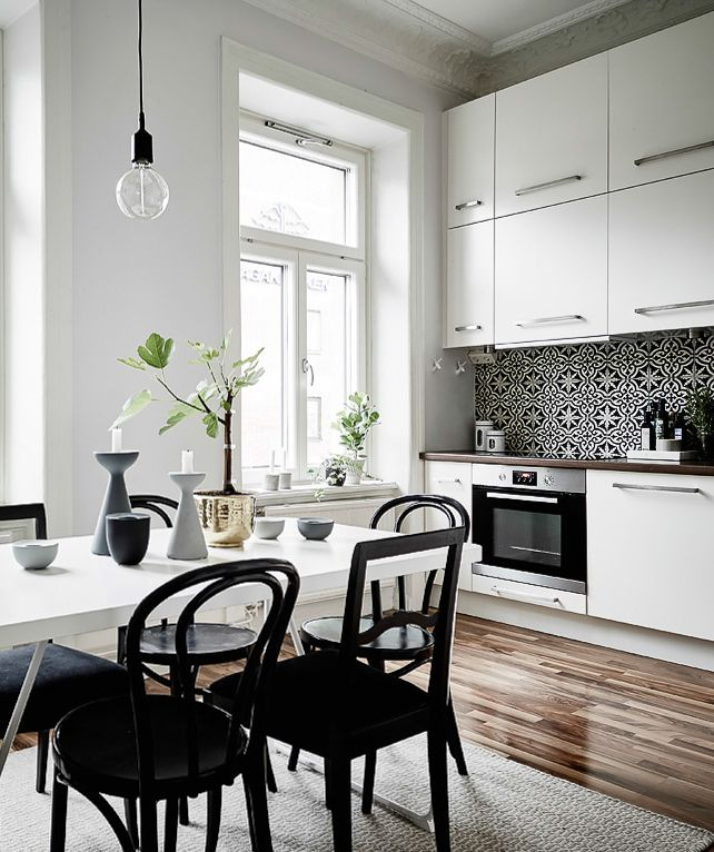 White Kitchen And Dining Room best 25+ black chairs ideas only on pinterest | white dining room