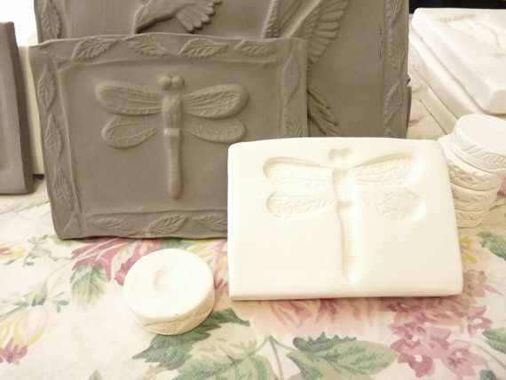 Clay Stamp Dragonfly Insect Pottery Press Mold by claystamps, $9.50