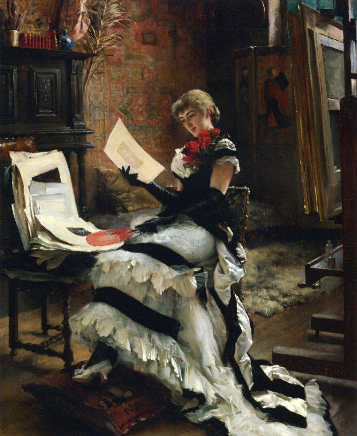 Albert Edelfelt chez lartiste les gravures,1881