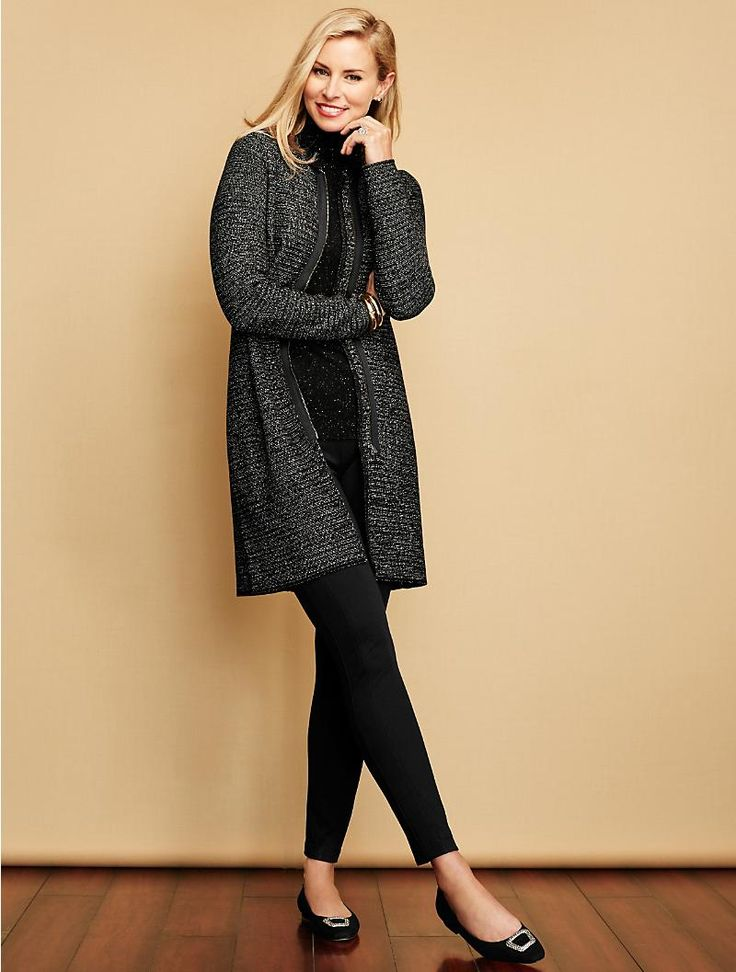 Talbots - Marled Zip-Front Sweater Topper | Sweaters |