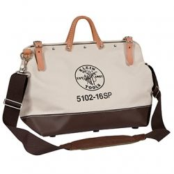 16'' (406 mm) Deluxe Canvas Tool Bag - 5102-16SP   Klein Tools - Since I like utility and multi use.  This would make an awesome purse.