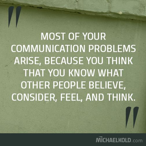 Why communication fails...