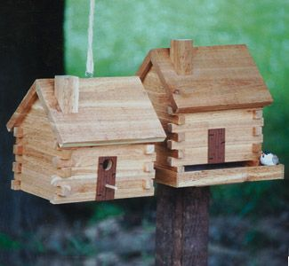 Log cabins logs and cabin on pinterest for Wooden bird house plans