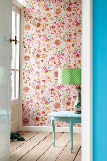 PiP Flowers in the Mix Roze behang