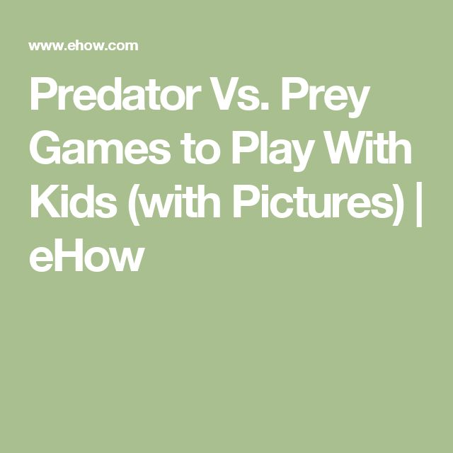 Predator Vs. Prey Games to Play With Kids (with Pictures)   eHow