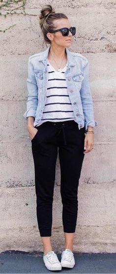 Wie trägt man eine Jeansjacke? – #casual #EINE #J…