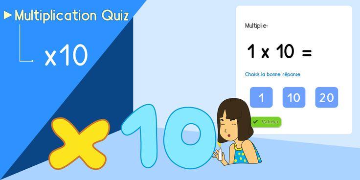 17 best images about multiplication apprendre les tables - Jeu en ligne table de multiplication ...