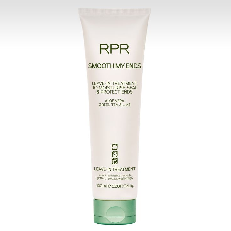 RPR SMOOTH MY ENDS leave-in treatment to moisturise, seal and protect ends. Aloe Vera Green Tea & Lime. www.rprhaircare.com.au