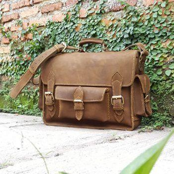 Handstitch Crazy Horse Leather Messenger Bag 017