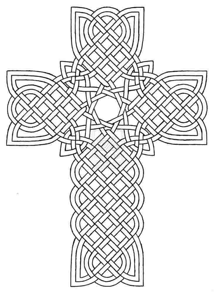 Crosses Coloring Pages For Adults Celtic Coloring Cross Coloring Page Mandala Coloring Pages