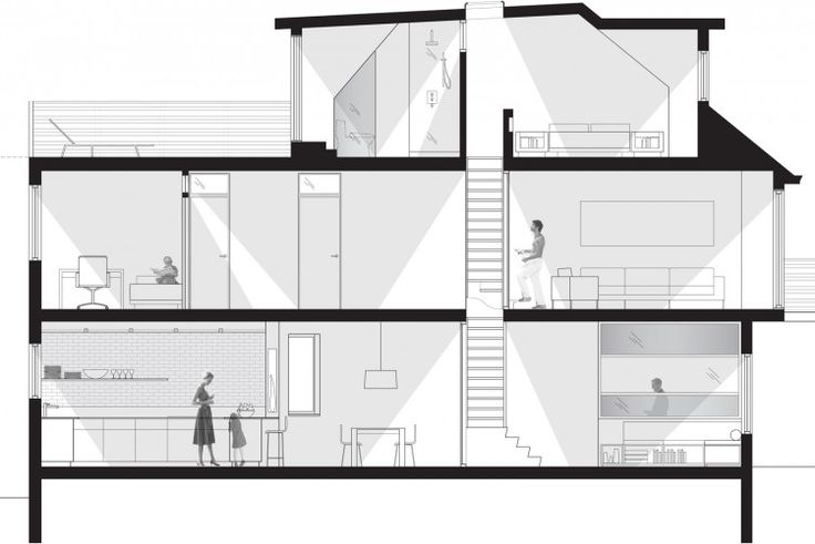 20 best images about narrow house section on pinterest for Dubbeldam architecture and design s contrast house