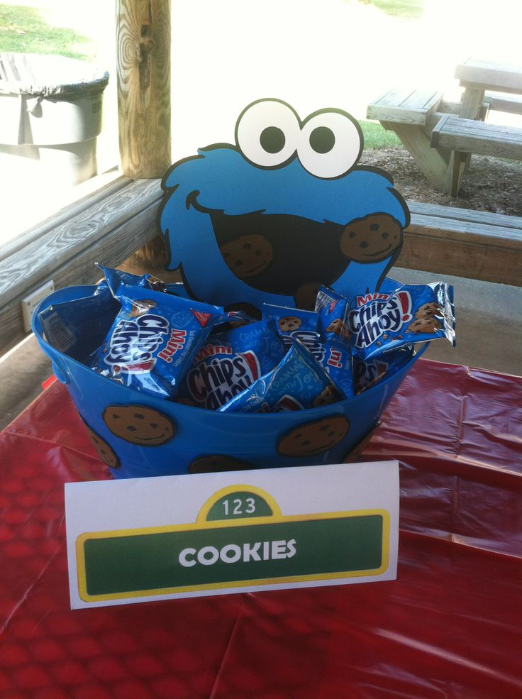 Sesame Street snack idea for my son's 2nd Birthday party