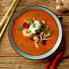 Pikantna zupa tajska z krewetkami