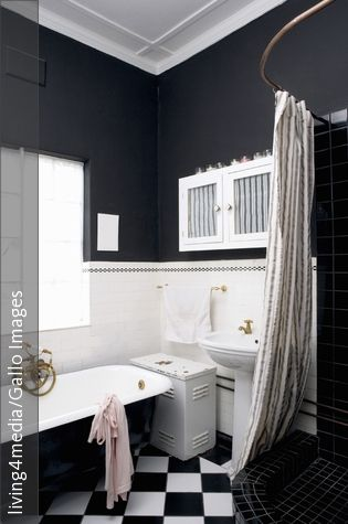 23 best Bathroom images on Pinterest Soaking tubs, Bathroom and - badezimmer schwarz weiß