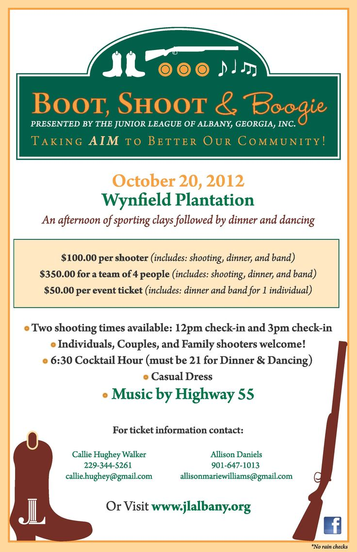 Boot, Shoot & Boogie Fundraiser - Junior League of Albany, GA