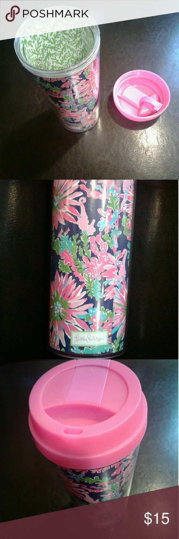 Lilly Pulitzer Girly Thermal Mug Lovely print design. Lilly Pulitzer Other