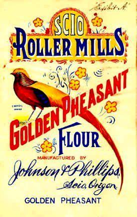 Scio Roller Mills Golden Pheasant Flour vintage advertisement