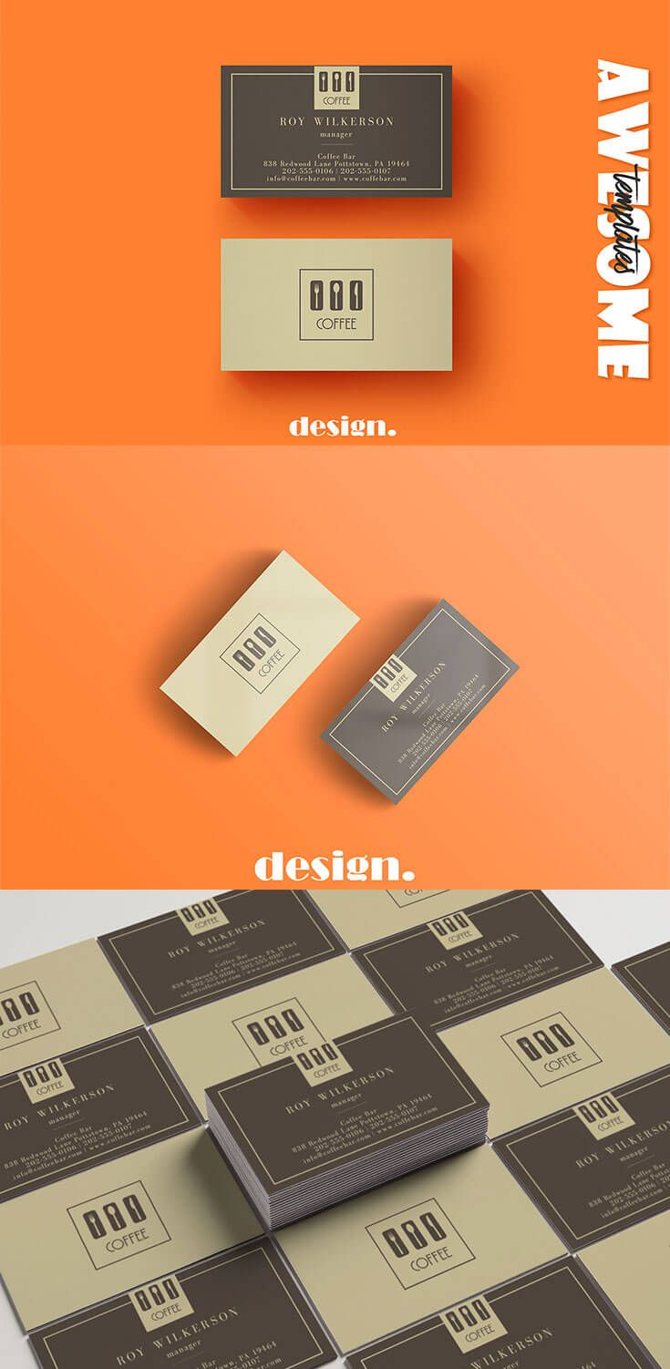 Free Coffee Business Card Template Business Card Pinterest