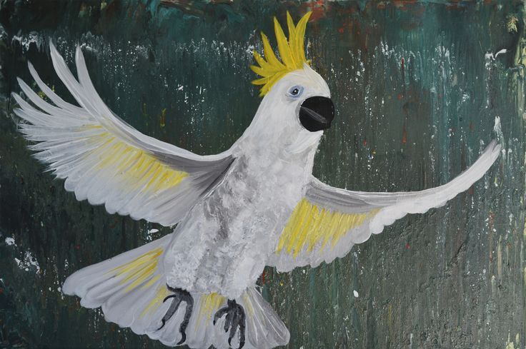 """""""Fly Away Cocky """" by Deborah Christensen. Paintings for Sale. Bluethumb - Online Art Gallery"""