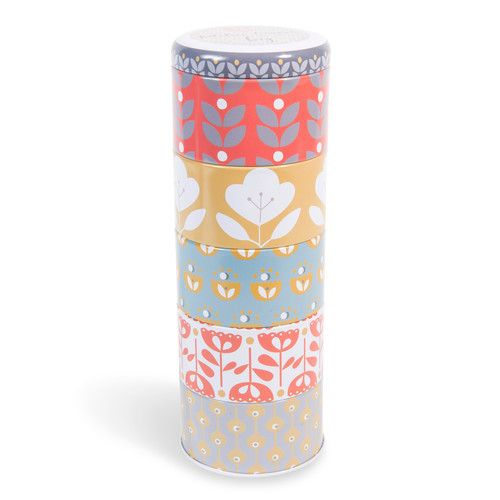 5 scatole rotonde impilabili multicolore in metallo VINTAGE COLLECTION by Maisons du Monde
