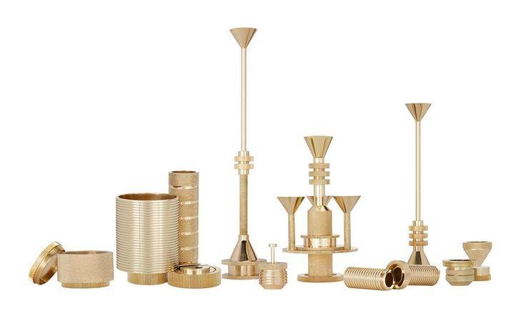 Acessórios Decorativos Metalizados Porta Velas Cog Tom Dixon (2)