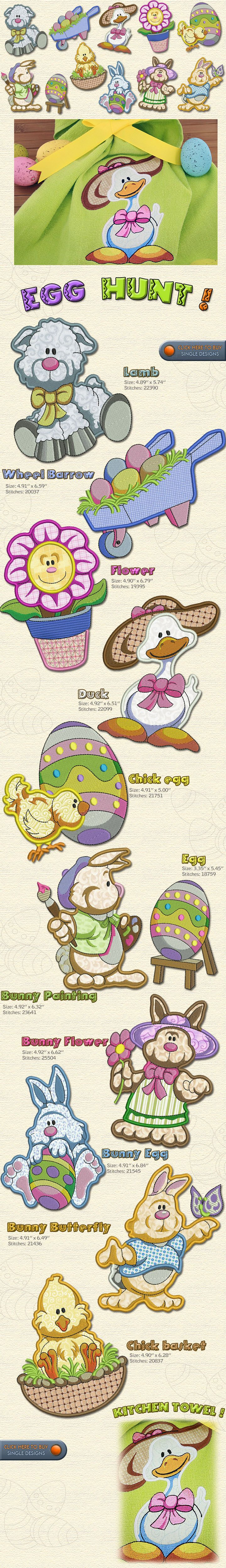 Egg Hunt Embroidery Designs Free Embroidery Design Patterns Applique