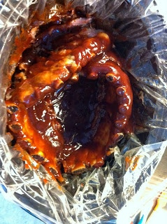 Dr Pepper Crockpot Ribs!! Think I have this, but taking no chances.  Then 4 minutes under the broiler