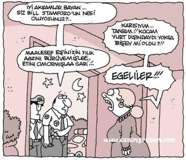 Laz doktor'dan sonra Egeliler karikatürü de hiç fena olmamış bence. Karikatür dedikleri, Türk şiveleri ile iken daha da güzel... :)