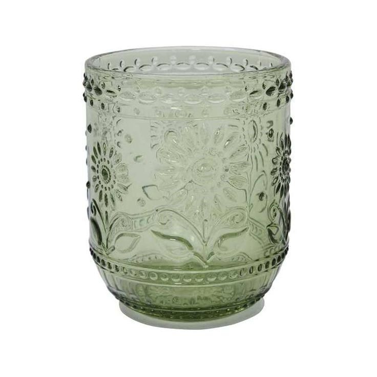 """These 4"""" drinking glasses are so charming and delightful for everyday use. They're perfect for quick sips of water on your way out the door, a drink on the nightstand, or to use every morning for your ...  Find the Green Thumb Drinking Glass, as seen in the Our Eclectic Thanksgiving Collection at http://dotandbo.com/collections/styleyourseason-our-eclectic-thanksgiving?utm_source=pinterest&utm_medium=organic&db_sku=105105"""