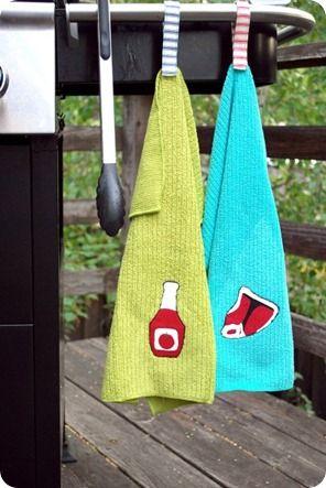 Handmade grill towels
