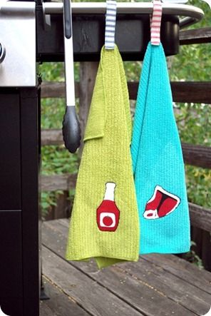 Handmade grill towels