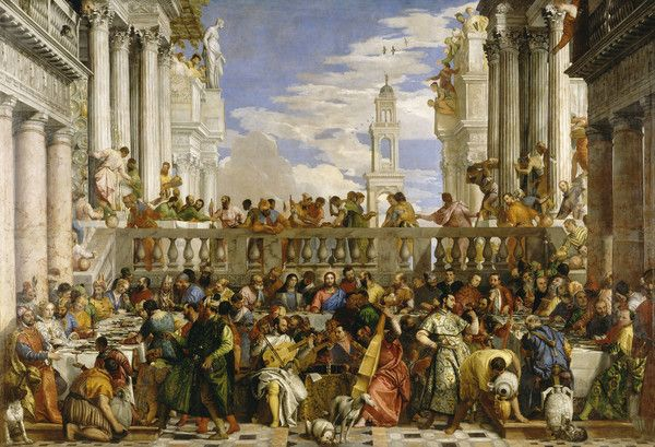 Les Noces de Cana by Paolo Veronese from Louvre Museum