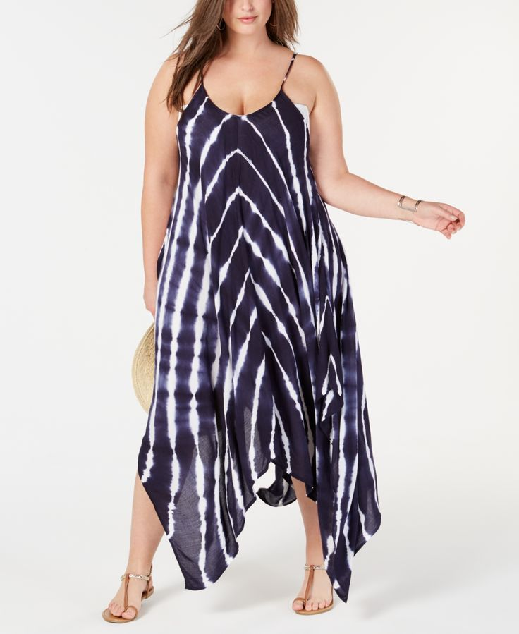 Plus Size Tie-Dyed Maxi Cover-Up