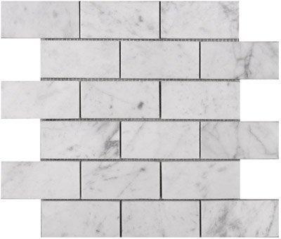 "3"" x 6"" Grey Carrara for Shower Wall - Honed"
