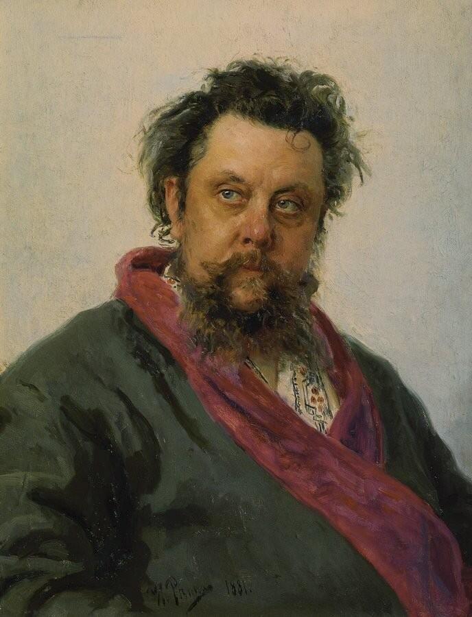 Илья Репин «Портрет композитора М.П.Мусоргского» (1881)