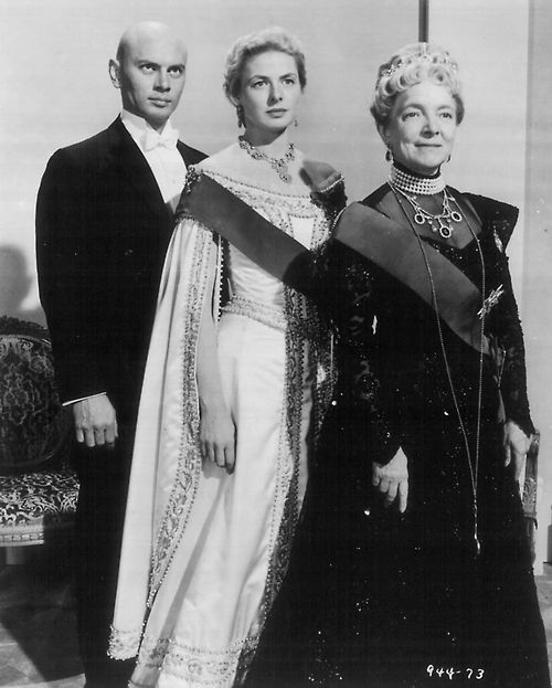 Yul Brynner, Ingrid Bergman and Helen Hayes in a publicity still for Anastasia (1956)