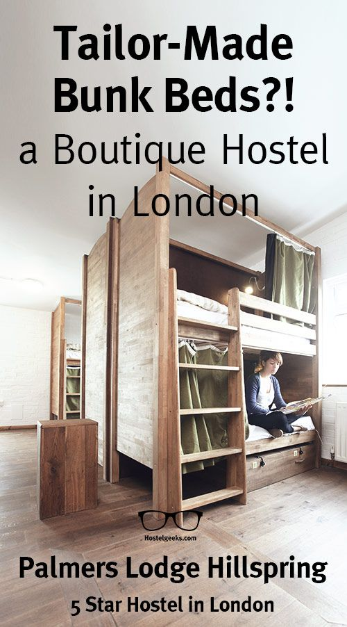 Tailor Made Bunk Beds   #Boutique #Hostel  #London