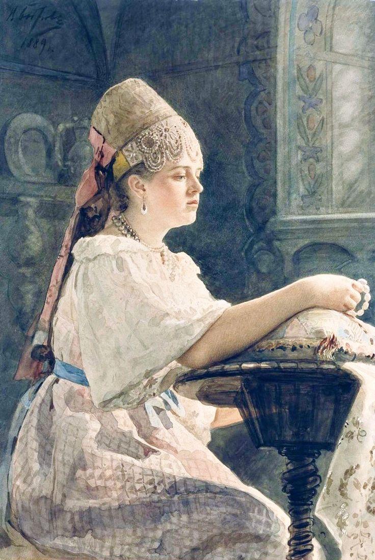 """"""" Viktor Alekseevich Bobrov - Boyaryshnya, (1889). """""""